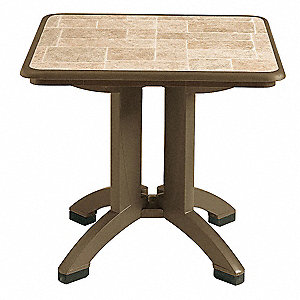 Folding Table,32 In Square,Bronze Mist