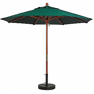 Bon 7ft Wooden Market Umbrella, Forest Green
