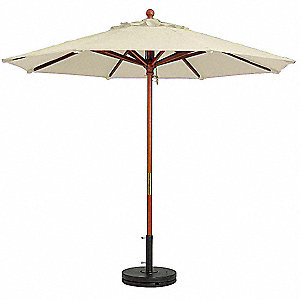 7ft Wooden Market Umbrella,Sand
