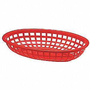 Classic Basket, Oval, Red,PK36
