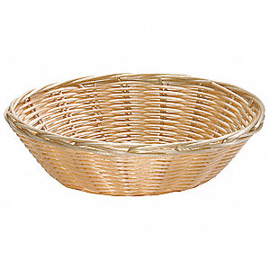 Handwoven Basket,Round, Natural,PK12