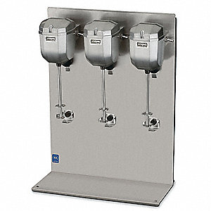 High Performance, Triple Head, Countertop Design Drink Mixer, Silver