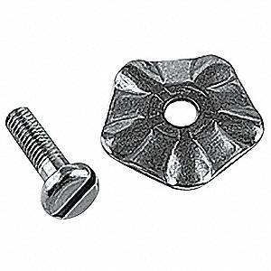 "5 1/2"" x 6 1/4"" x 5"" Stainless Steel Solid Agitator with Screw"