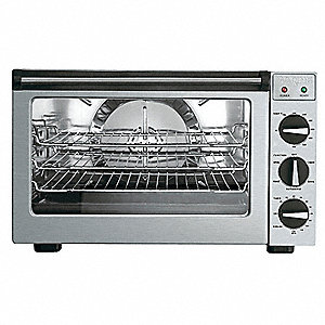 "20 1/2"" x 24 1/8"" x 14 1/8"" Half Size Convection Oven with Rotisserie"
