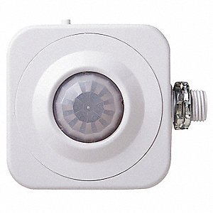 Ceiling, Wall Hard Wired Occupancy Sensor, 452 sq. ft. Passive Infrared, White