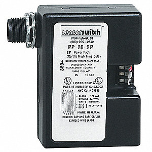 Power Pack,RlyCktProt,2Pole,120/277V,Blk