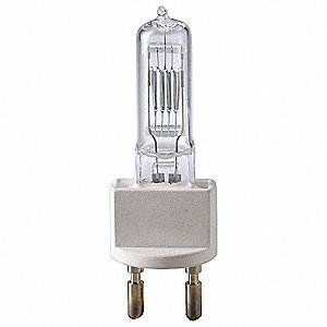 500 Watts Halogen Reflector Lamp, T6, Medium Bi-Post (G22), 13,000 Lumens, 3200K Bulb Color Temp.