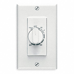 60 Minute Wall Timer,White, SPST