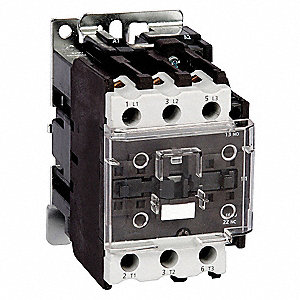 120VAC IEC Magnetic Contactor&#x3b; No. of Poles 3, Reversing: No, 50 Full Load Amps-Inductive