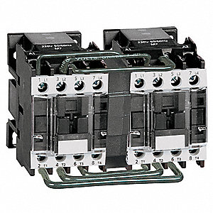 IEC Magnetic Contactor, 120VAC Coil Volts, 11 Full Load Amps-Inductive, 1NO Auxiliary Contact Form