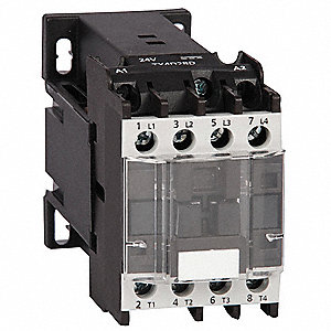 IEC Magnetic Contactor, 24VDC Coil Volts, 9 Full Load Amps-Inductive, 1NO Auxiliary Contact Form