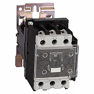 24VDC IEC Magnetic Contactor; No. of Poles 3, Reversing: No, 80 Full Load Amps-Inductive