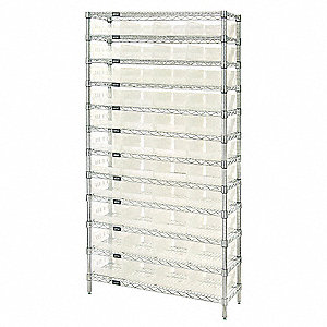 "36"" x 24"" x 74"" Bin Shelving with 5000 lb. Load Capacity"