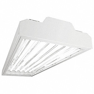 220W Fluorescent High Bay Fixture, 120 to 277V Voltage, Suggested Lamp Item No. 3VK30