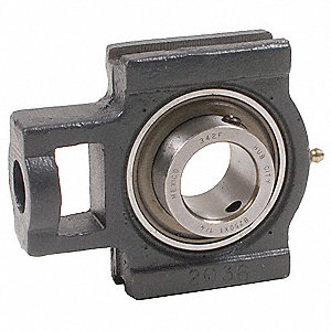 Take-Up Bearing,Bore 1-7/16 In,Wide Slot