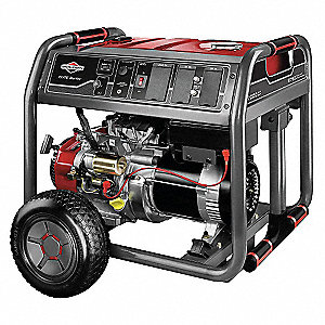 Electric/Recoil Gasoline Portable Generator, 7000 Rated Watts, 8750 Surge Watts, 120VAC/240VAC