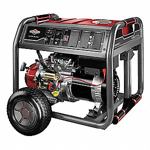 Portable Generator, 120/240VAC Voltage, 8000 Rated Watts, 10,000 Surge Watts, 66.6/33.3 Amps @ 120/2