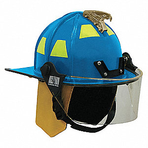 Blue Fire Helmet, Shell Material: FYR-Glass Shell, 8pt. Ratchet Suspension, Fits Hat Size: 6 to 9-1/