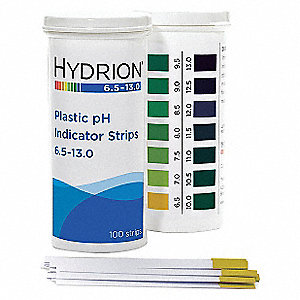 pH Strips,Hydrion Spectral,6.5-13,PK100
