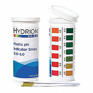 ph Test Strips  100 PK Testing Parameter: pH Range: 0 to 6 pH