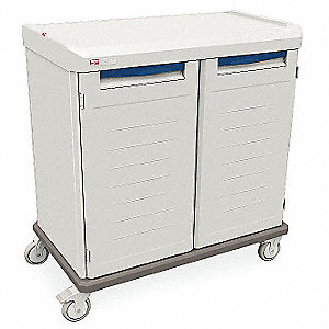 "27-7/8""D x 43""W x 44-3/4""H Polymer General Supply Cart"