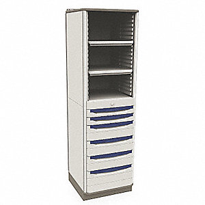 "Supply Cabinet, 73"" Overall Height, 21-1/4"" Overall Width, Number of Shelves 2 Adjustable"