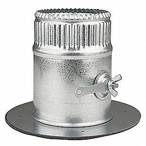 Greenseam Galvanized Steel Collar W Damper 4 Quot Duct