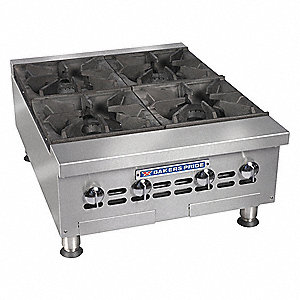 Countertop Gas Open 4 Burner Range