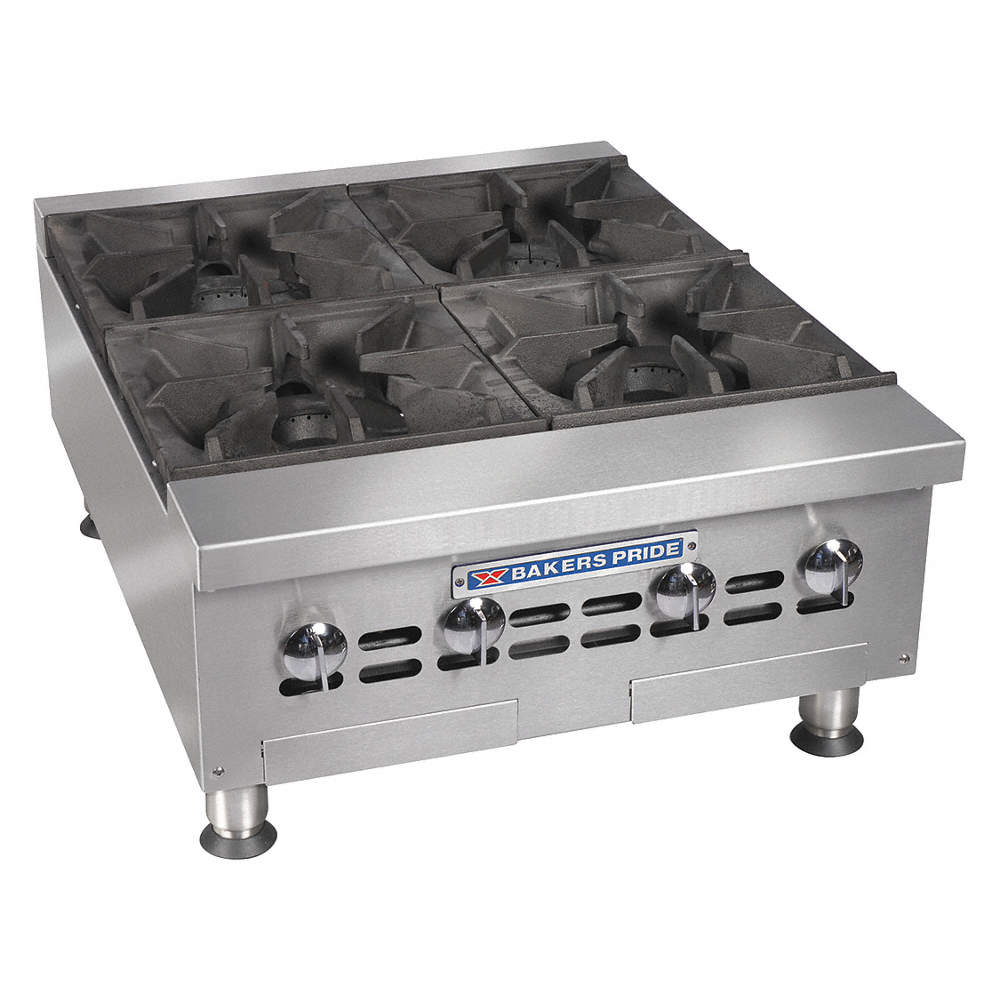 Bakers Pride 30 1 8 X 24 X 13 3 4 Countertop Gas Open Burner Range 6ekt4 Bphhp 424i Grainger