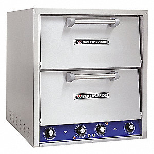 "26"" x 28"" x 28 1/2"" Double Deck, Brick Line Electric Deck Oven"