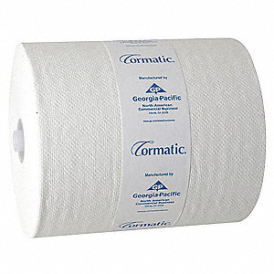 700 ft. 1-Ply Paper Towel Roll, White&#x3b; PK6