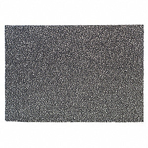 "14"" x 20"" Non-Woven Nylon/Polyester Fiber Rectangular Stripping Pad, 175 to 600 rpm, Black, 10 PK"