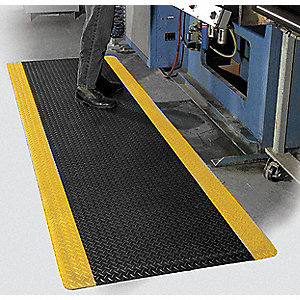 Antifatigue Mat, Vinyl, 5 ft. x 3 ft., 1 EA
