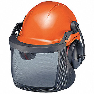 HARD HAT,6-PT PIN LOCK,24 NRR MUFFS