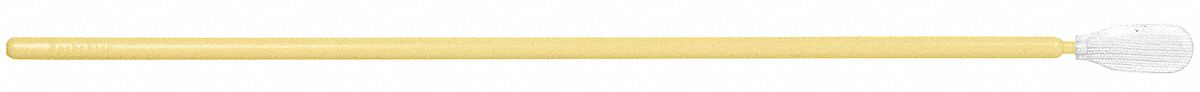 Swab,  Cleanroom,  Flexible Tip,  Polyester,  Yellow,  PK 100