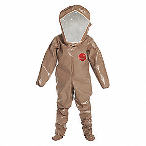 Level B Rear-Entry Encapsulated Suit, Tan, S, Tychem® 5000 Material