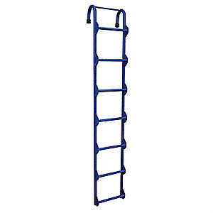 "Welded Steel Storage Tank Ladder, 7 ft. Ladder Height, 14"" Overall Width, 300 lb. Load Capacity"