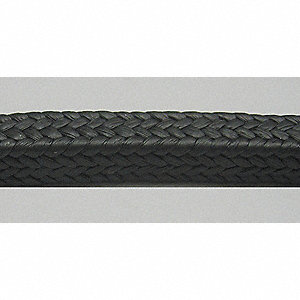 25 ft. PTFE/Graphite Compression Packing Seal, Black