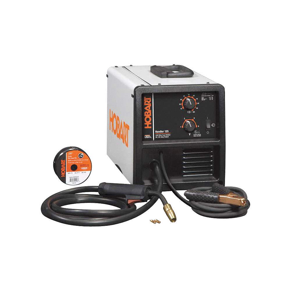 HOBART MIG Welder, Handler(R) 125 Series, Input Voltage: 120VAC ...