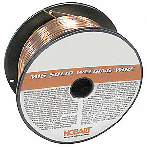 "2 lb. Carbon Steel Spool MIG Welding Wire with 0.035"" Diameter and ER70S-2 AWS Classification"
