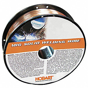 "11 lb. Carbon Steel Spool MIG Welding Wire with 0.030"" Diameter and ER70S-6 AWS Classification"