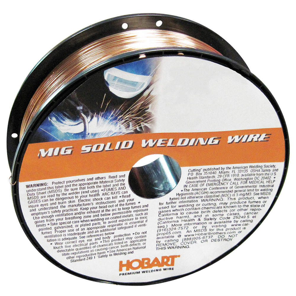 HOBART 11 lb. Carbon Steel Spool MIG Welding Wire with 0.030 ...