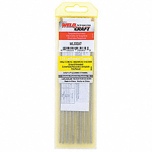 Tungsten Electrode,3/32 In.,PK10
