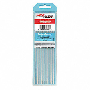 Tungsten Electrode,1/16 In.,PK10