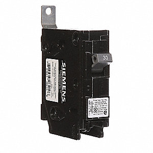 Bolt On Circuit Breaker, 30 Amps, Number of Poles:  1, 120/240VAC AC Voltage Rating