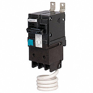 Bolt On Circuit Breaker, 15 Amps, Number of Poles:  2, 120/240VAC AC Voltage Rating