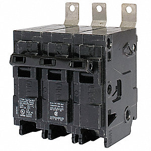 Bolt On Circuit Breaker, 20 Amps, Number of Poles:  3, 240VAC AC Voltage Rating