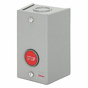 Push Button Control Station, 1NO/1NC Contact Form, Number of Operators: 1
