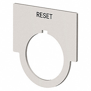 30mm 1/2 Round Reset Legend Plate, Aluminum, Brushed Aluminum