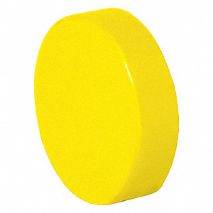30mm Plastic Push Button Cap, Non-Illuminated, Yellow
